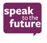 Speak to the future image